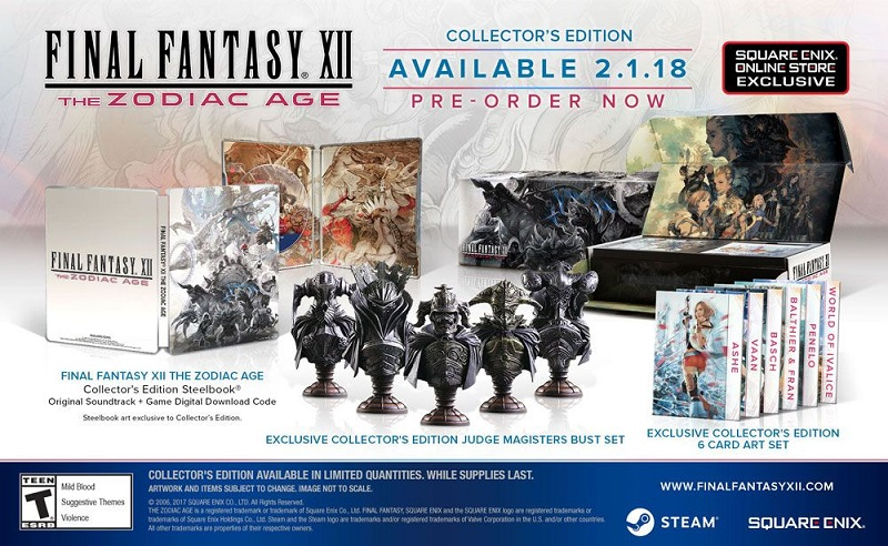 FFXII The Zodiac Age Collector's Edition PC