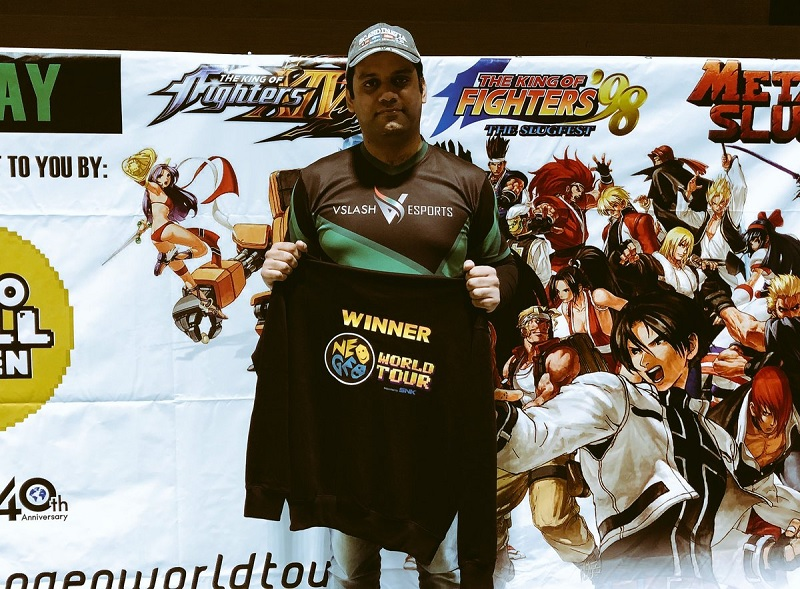 Neo Geo World Tour Norway Stop KOF XIV Champ White-ASHX