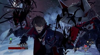 New Code Vein Gameplay Showcased Ice And Fire Stage